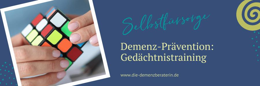 Alzheimer Demenz Gedächtnistraining